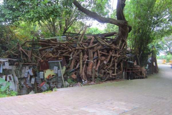 The home of a suspected Hong Kong animal hoarder.