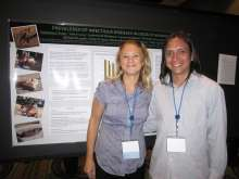 Dr. Katherine Polak, Maddie's Shelter Medicine Resident, and Dr. Jaime Grijalva of Ecuador.