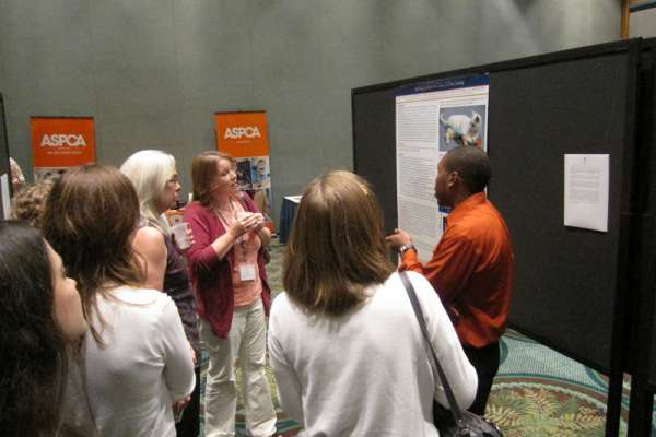 Cleon Hendricks, UF Class of 2015, presented a poster on his pilot study investigating tail vaccination in cats.