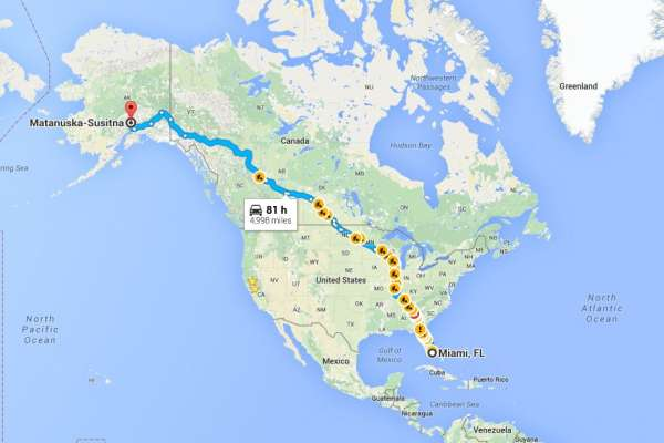 road-trip map