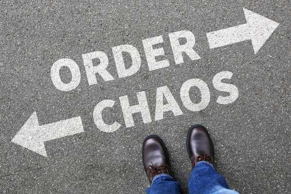 Chaos And Order arrows on the ground