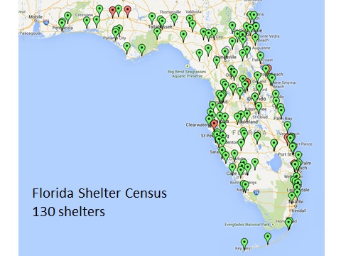 Florida Map By County.Florida Shelter Animal Census Maddie S Shelter Medicine Program