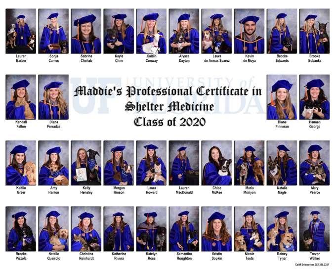 Class of 2020 Shelter Medicine Certificate Graduates